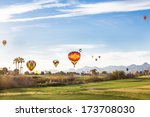 balloons over a golf course | Shutterstock . vector #173708030