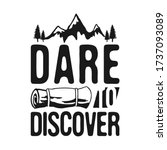 dare to discover   camp... | Shutterstock . vector #1737093089