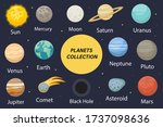planet solar system icons flat...   Shutterstock .eps vector #1737098636