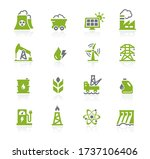 energy icons    natura series | Shutterstock .eps vector #1737106406