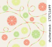 citrus seamless pattern with... | Shutterstock .eps vector #173711699