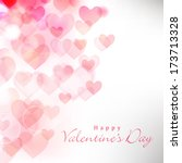 happy valentines day... | Shutterstock .eps vector #173713328
