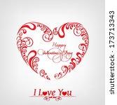 happy valentines day... | Shutterstock .eps vector #173713343