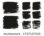 flat paint brush thin long  ...   Shutterstock .eps vector #1737137243
