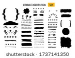 grunge decoration set for quote ... | Shutterstock .eps vector #1737141350