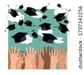 university graduation ceremony... | Shutterstock .eps vector #1737142256