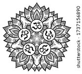 circular pattern in form of... | Shutterstock .eps vector #1737156890