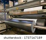 Small photo of PE film roll, black roll, stretch film, shrink film, plastic roll, polyethylene, plastic film, extrusion machine, mulchfolie