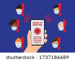 covid 19 contact tracing app... | Shutterstock .eps vector #1737186689