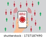 coronavirus contact tracking... | Shutterstock .eps vector #1737187490