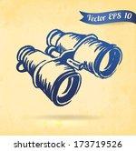 vintage typewriter   vector... | Shutterstock .eps vector #173719526