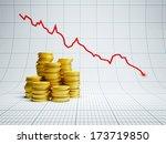losses at financial market  3d... | Shutterstock . vector #173719850
