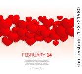 overlapping red heart shapes...   Shutterstock .eps vector #173721980