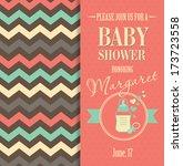 baby shower invitation   Shutterstock .eps vector #173723558