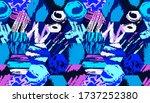 grunge pattern. abstract... | Shutterstock .eps vector #1737252380