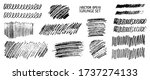 grunge pencil sketches set.... | Shutterstock .eps vector #1737274133