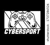 mascot cybersport logo for team ... | Shutterstock .eps vector #1737286526