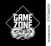 game zone gamer hands of green... | Shutterstock .eps vector #1737286529