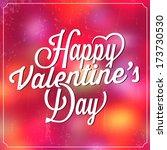 valentine's day template  ... | Shutterstock .eps vector #173730530