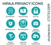 hipaa compliance icon set w... | Shutterstock .eps vector #1737311009