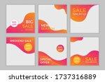 editable template post for... | Shutterstock .eps vector #1737316889