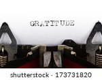 old typewriter with text... | Shutterstock . vector #173731820