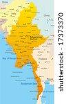 vector map of myanmar country | Shutterstock .eps vector #17373370