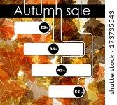 autumn discount sale  jpg   Shutterstock . vector #173735543