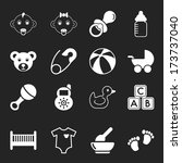 white baby icons | Shutterstock . vector #173737040