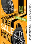 car wheel repair and auto... | Shutterstock .eps vector #1737370490