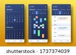 mobile calendar app. month ...