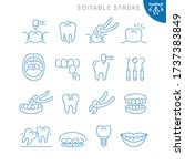 dentistry related icons.... | Shutterstock .eps vector #1737383849