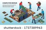 repair service fixing computer...   Shutterstock .eps vector #1737389963