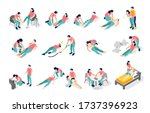 emergency first aid isometric...   Shutterstock .eps vector #1737396923