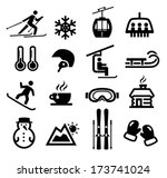 collection of winter icons... | Shutterstock .eps vector #173741024