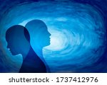 metaphor bipolar disorder mind... | Shutterstock . vector #1737412976