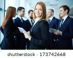 group of business partners... | Shutterstock . vector #173742668