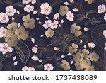 spring floral vintage seamless...   Shutterstock .eps vector #1737438089