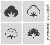 vector black cotton icons set... | Shutterstock .eps vector #173745596