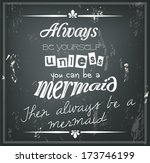 retro quote on a black... | Shutterstock .eps vector #173746199
