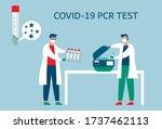 coronavirus or covid 19 pcr... | Shutterstock .eps vector #1737462113