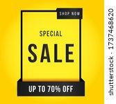 vector illustration of a sale... | Shutterstock .eps vector #1737468620