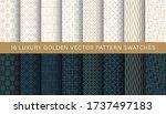 luxury geometric golden pattern ... | Shutterstock .eps vector #1737497183