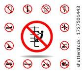 forbidden climbing icon on...