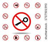 forbidden key  open icon on...