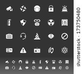 safety icons on gray background ... | Shutterstock .eps vector #173750480