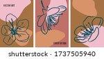 set of hand drawn flower covers....   Shutterstock .eps vector #1737505940