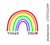rainbow vector with thank you... | Shutterstock .eps vector #1737521249