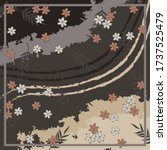 silk square scarf with abstract ... | Shutterstock .eps vector #1737525479