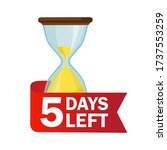 5 days left. sandglasses with... | Shutterstock .eps vector #1737553259